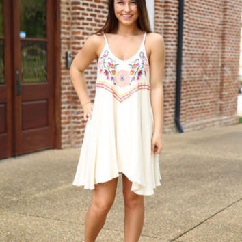 Judith March - Ivory Tank Swing Dress