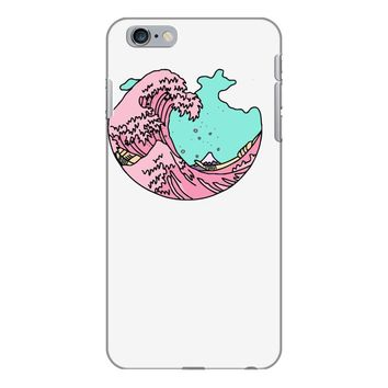 japanese pastel kawaii anime meme surf beach wave iPhone 6/6s Plus Case
