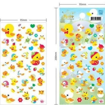DCCKL72 1pcs/Lot 3D Yellow Duck series Foam scrapbook sticker/students' Deco label/stationery office school supplies children gift