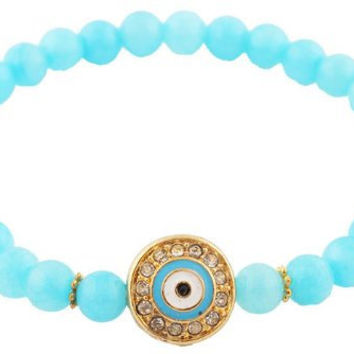 Tiffany Blue Evil Eye Bracelet- Stretchy