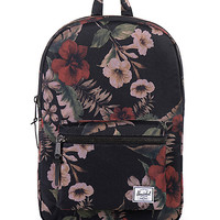 Herschel Supply Settlement Mid Black & Hawaiian Floral Print 17L Backpack