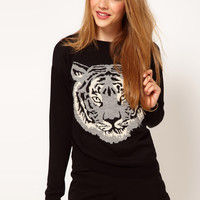 ASOS | ASOS Mono Tiger Sweater at ASOS