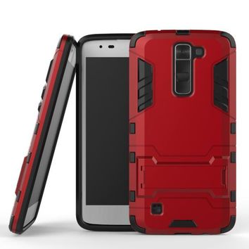 Armor Slim Kickstand Protective Phone Shockproof Case Cover For LG K7 Tribute 5