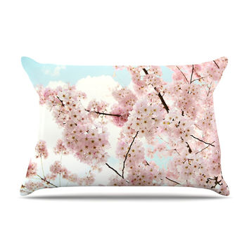 "Sylvia Cook ""Spring Beauty"" Pink Blue Pillow Case"