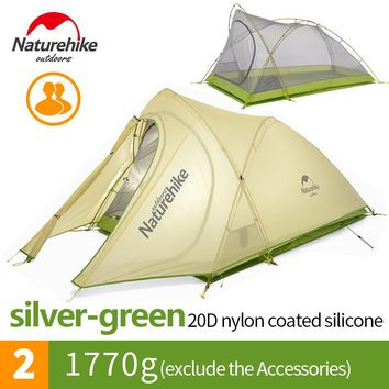 Naturehike 2 Person Ultralight Waterproof Outdoor Camping Tent with Carry Bag NH17T007-TQY
