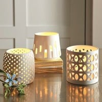 Porcelain Tealight Holders | west elm