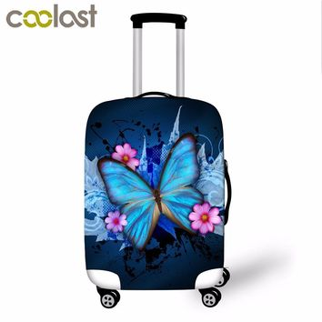 Butterfly Print Trolley Suitcase Protective Cover 18-28 Inch Elastic Luggage Cover Carry on baggage Case Bag Travel Accessories