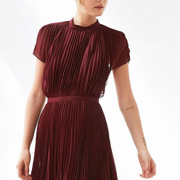 Keepsake Come Back Pleated Mini Dress - Urban Outfitters