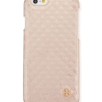 Tory Burch Embossed Metallic Hardshell iPhone® 6/6s Case, Rose Gold