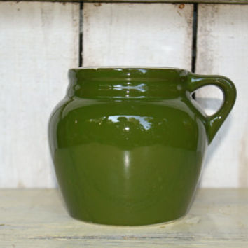 Vintage Hall Pottery – Woodland Green Crock Pot – 1950's  Hall China Pottery -  Made in USA - Vintassentials