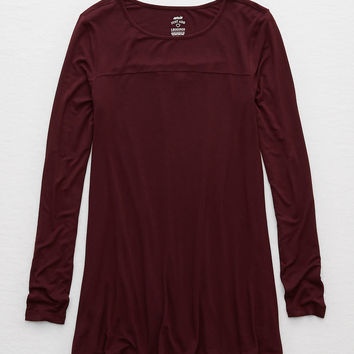 Aerie Swing Tee, Deep Plum