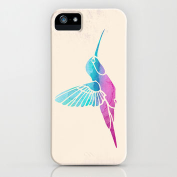 Watercolor Hummingbird iPhone & iPod Case by Jacqueline Maldonado