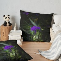 'Violet flowers' Floor Pillow by VanGalt