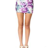 Papaya Clothing Online :: PURPLE FLORAL SKIRT