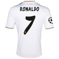 Real Madrid UEFA Champions League Home Shirt 2013/14 with Ronaldo 7 printing