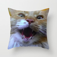 Rawr Throw Pillow by MiMo - Prints & Pillows