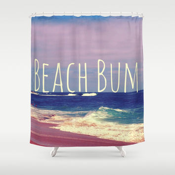 Beach Bum Shower Curtain by Josrick