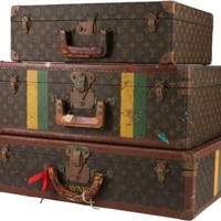 One Kings Lane - Chessy Rayner - Louis Vuitton Suitcases, Set of 3