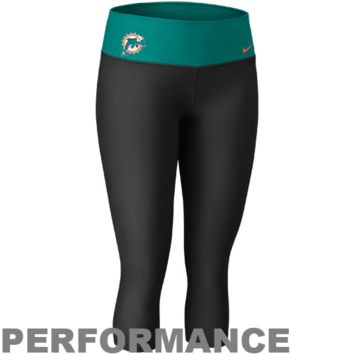 Nike Miami Dolphins Women's Dri-FIT Legend Performance Capri Pants - Black/Aqua