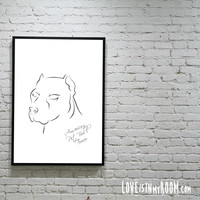 PitBull lovers poster