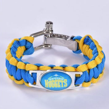 NBA - Denver Nuggets Custom Paracord Bracelet