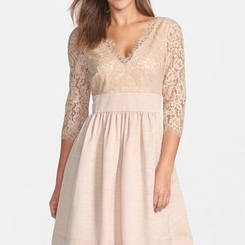 Eliza J Lace & Faille Dress (Regular & Petite) | Nordstrom