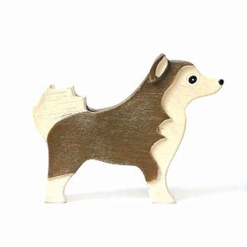 Husky Shaped Animal Photo Memo Stand Business Card Holder | Gifts for Dog Lovers