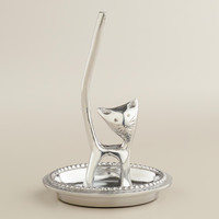 Pewter Kitty Ring Holder - World Market