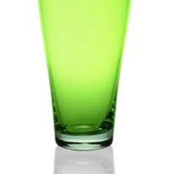 Majestic Gifts E60322-D-S6 Quality Glass Juice Glass 16oz. Green, Set of 6