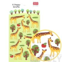 Cute Giraffe Shaped Animal Themed Felt Stickers for Scrapbooking and Decorating