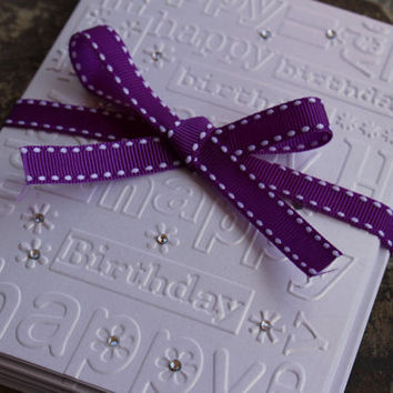 Birthday Cards Set of 10 - Embossed Cards with Envelopes