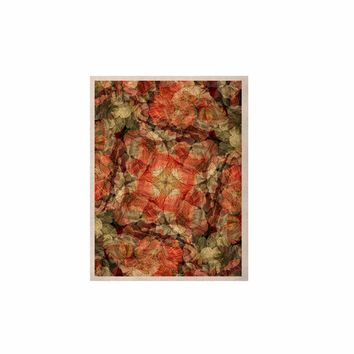 """Justyna Jaszke """"Mandala Fire Art"""" Red Pastel Abstract Pattern Digital Illustration KESS Naturals Canvas (Frame not Included)"""