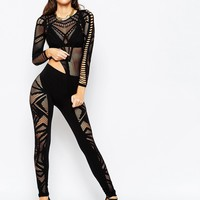 ASOS Night Leggings in Cutwork