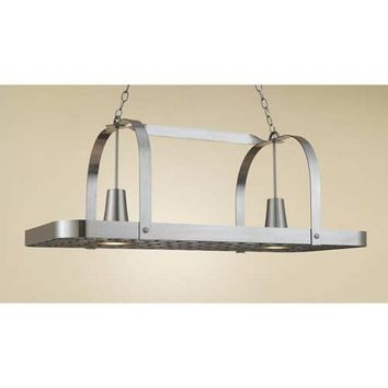 Hi-Lite H-34Y-D-11 Baker Satin Steel Lighted Pot Rack