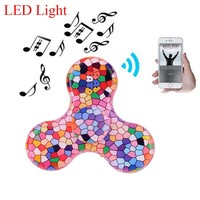 Creative Toy Fidget Spinner LED Mini Bluetooth Speaker Music Fidget Spinner EDC Hand Spinner Toys finger spinner