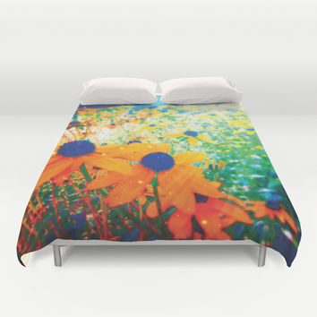 Flowers in the Sun Duvet Cover by NisseDesigns
