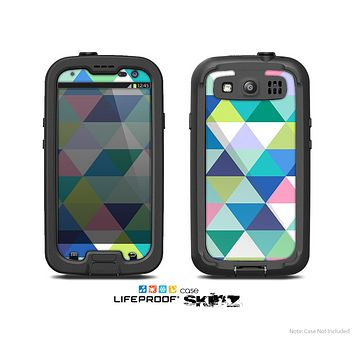 The Vibrant Fun Colored Triangular Pattern Skin For The Samsung Galaxy S3 LifeProof Case