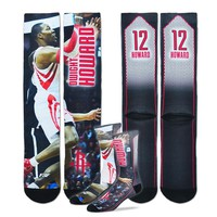 For Bare Feet Houston Rockets Dwight Howard Sublimated Socks - Men, Size: L (Rkt Team)