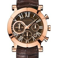 Tiffany & Co. -  Atlas® chronograph watch in 18k rose gold, mechanical movement.