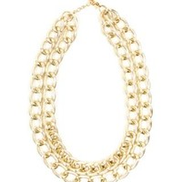 TWO ROW CHAIN LINK NECKLACE