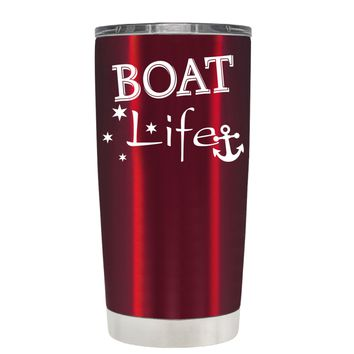 TREK Boat Life on Translucent Red 20 oz Tumbler Cup