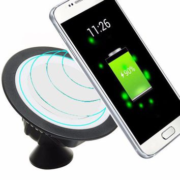 2018 Universal Holder Qi Wireless Charger Pad Dock 360 Rotating Mount Car Holder Charging Pad For Cell Phone #30
