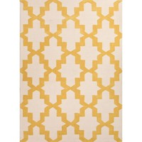Kara Mustard Yellow Lattice Area Rug