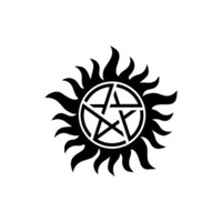 Anti Possession Symbol Supernatural logo Decal Sticker Catholic Voodoo Demons for Car Windows Truck Room