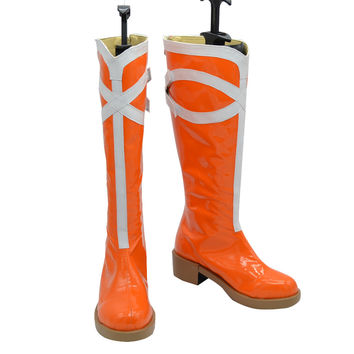 Love Live! Sonoda Umi Cosplay Shoes Boots Women's Sweet Orange Knee High Boots For Halloween Party
