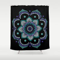 Mandala  Shower Curtain by Ashley Hillman