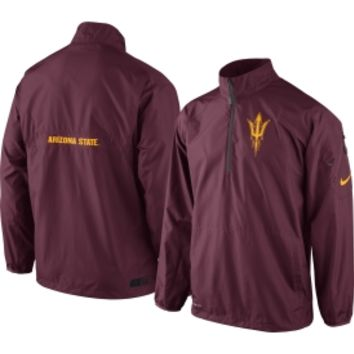Nike Men's Arizona State Sun Devils Maroon Lockdown Half-Zip Woven Performance Jacket