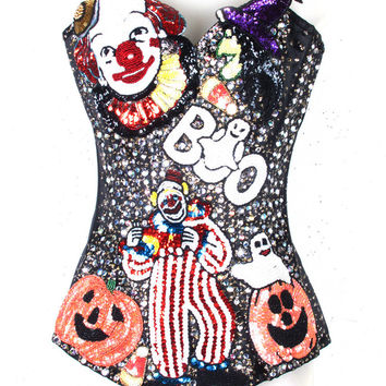 TomTom 'Trick Or Treat' Custom Corset | Patricia Field
