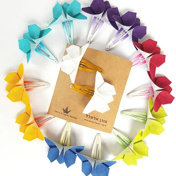 Butterfly Hair Clips - Assorted Colors