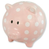 Extra Large Pink Ceramic Piggy Bank Baby Banks